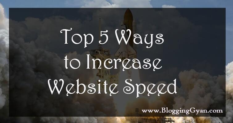 5 Ways to Increase Website Speed Hindi Mein Jankari