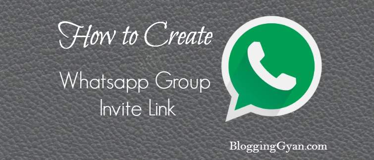How to Create Whatsapp Group Invite Link in Hindi shabdin