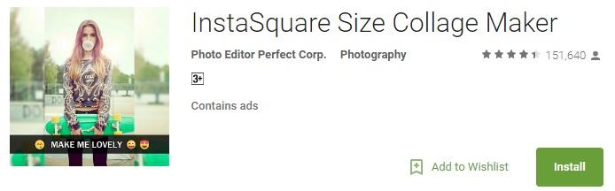 InstaSquare Size Collage Maker