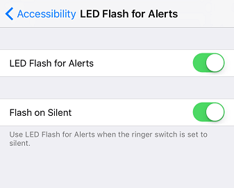 Turn on Flash Notifications in Silent Mode iOS